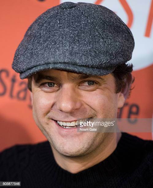 Actor Joshua Jackson attends the Smart People photo call at Second Stage Theatre on January 20 2016 in New York City