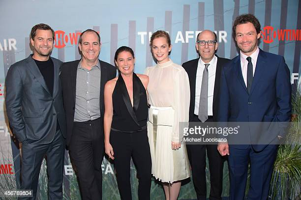 Actor Joshua Jackson, David Nevins, president, Showtime Networks, actress Maura Tierney, actress Ruth Wilson, Matthew C. Blank, chairman and CEO,...