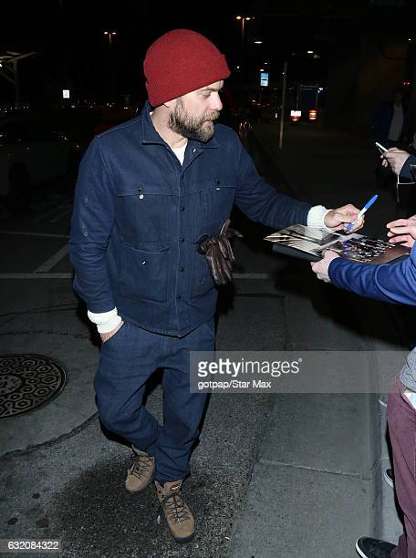 Actor Joshua Jackson is seen on January 18 2017 in Salt Lake City Utah