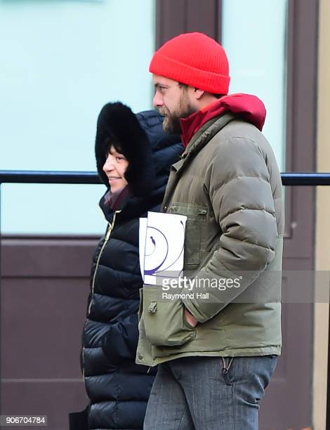 Actor Joshua Jackson is seen walking in Soho on January 18 2018 in New York City