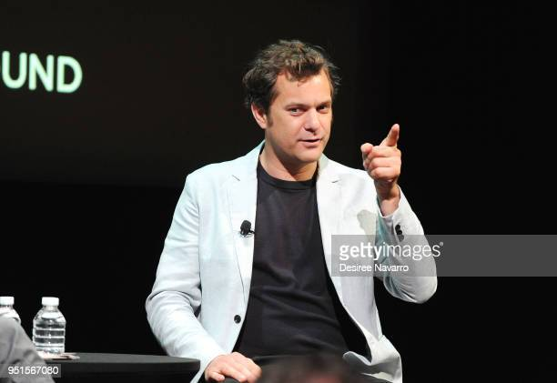 Actor Joshua Jackson speaks onmstage during the SAG-AFTRA Foundation Conversations On Broadway at The Robin Williams Center on April 26, 2018 in New...