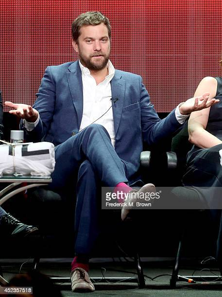 Actor Joshua Jackson speaks onstage at the 'The Affair' panel during the SHOWTIME Network portion of the 2014 Summer Television Critics Association...