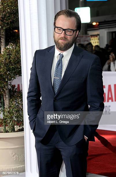 Actor Joshua Leonard arrives for the Premiere Of Universal Pictures' Hail Caesar held at Regency Village Theatre on February 1 2016 in Westwood...