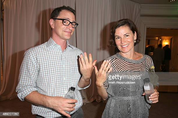 Actor Joshua Malina and costume designer Melissa Merwin attend EXTRA's WEEKEND OF | LOUNGE produced by On 3 Productions at The London West Hollywood...