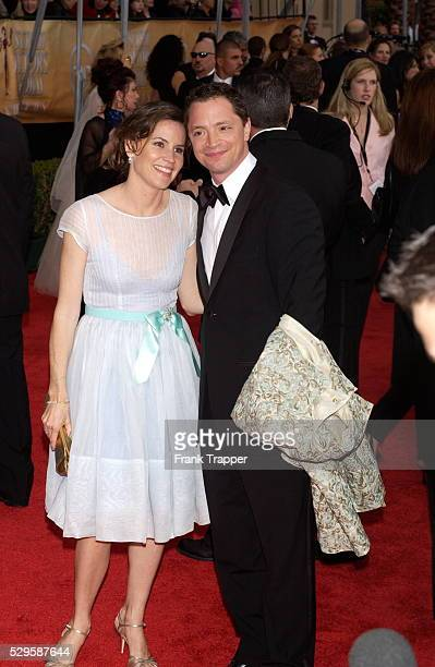 Actor Joshua Malina and date Melissa Merwin arrives at the 10th Annual Screen Actors Guild Awards