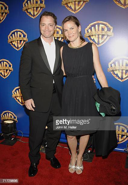 Actor Joshua Malina and Melissa Merwin attend the Warner Brothers Television Emmy Party at Cicada on August 27 2006 in Los Angeles California