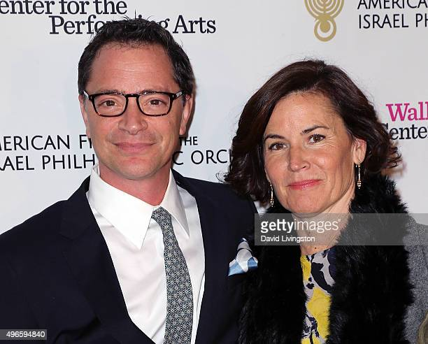 Actor Joshua Malina and wife Melissa Merwin attend the Duet Gala hosted by American Friends of the Israel Philharmonic Orchestra at the Wallis...