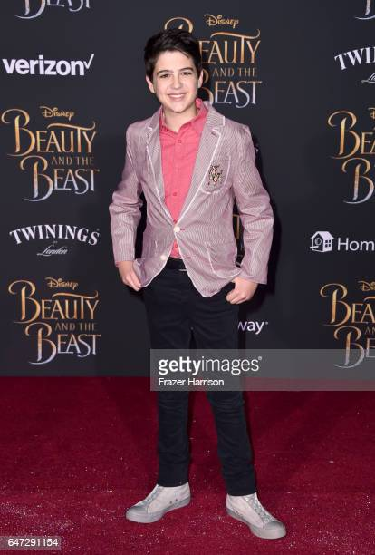 Actor Joshua Rush attends Disney's Beauty and the Beast premiere at El Capitan Theatre on March 2 2017 in Los Angeles California