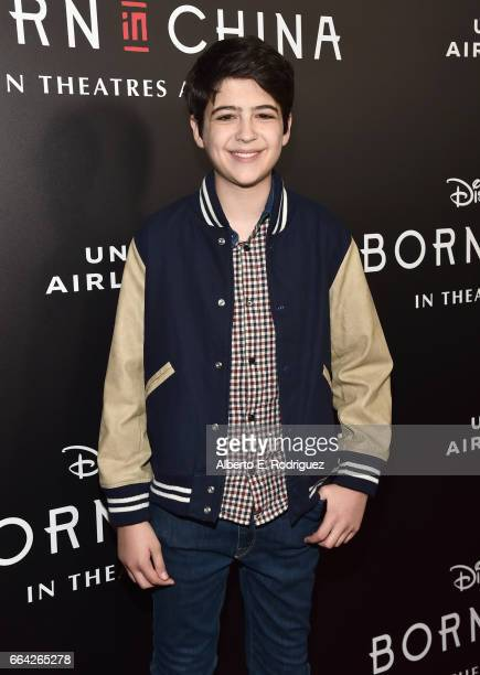Actor Joshua Rush attends the Los Angeles premiere of Disneynature's BORN IN CHINA at the Billy Wilder Theater at The Hammer Museum in Westwood CA on...