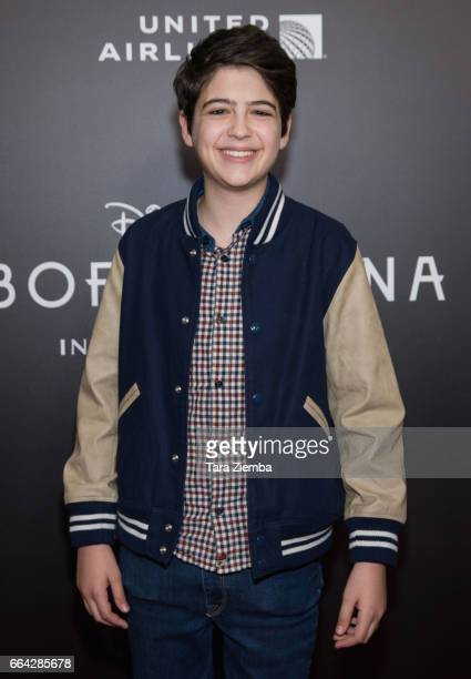Actor Joshua Rush attends the Los Angeles premiere of Disneynatures BORN IN CHINA at Billy Wilder Theater on April 3 2017 in Los Angeles California