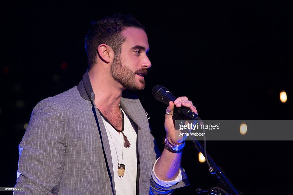 Actor Joshua Sasse speaks during DIRECTV And AUDIENCE Network's Road To Rogue Party on March 16, 2013 in Austin, Texas.