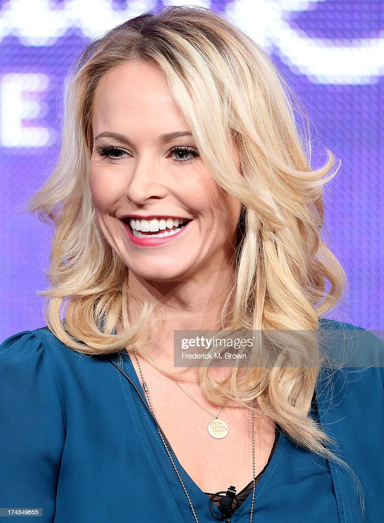 Actor Josie Bissett speaks onstage during the Christmas With Tucker panel at the Hallmark Channel and Hallmark Movie Channel portion of the 2013 Summer Television Critics Association tour at the Beverly Hilton Hotel on July 24, 2013 in Beverly Hills, California.