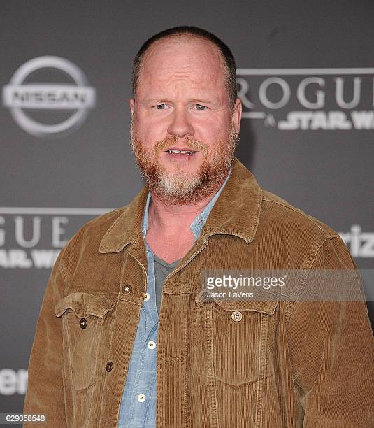 Actor Joss Whedon attends the premiere of 'Rogue One A Star Wars Story' at the Pantages Theatre on December 10 2016 in Hollywood California