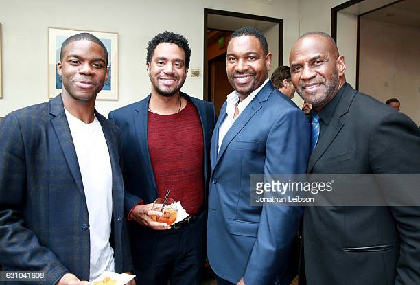Actor Jovan Adepo , actor Mykelti Williamson , actor Julius Tennon and Guest attend the Viola Davis Walk Of Fame Ceremony Luncheon at Spago on...