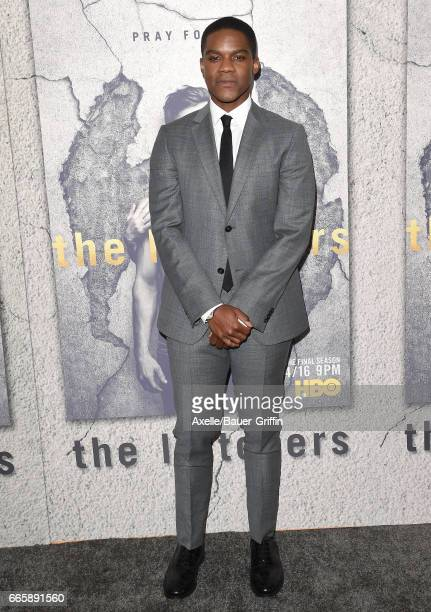 Actor Jovan Adepo arrives at the Season 3 Premiere of 'The Leftovers' at Avalon Hollywood on April 4 2017 in Los Angeles California