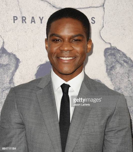 Actor Jovan Adepo attends the season 3 premiere of The Leftovers at Avalon Hollywood on April 4 2017 in Los Angeles California