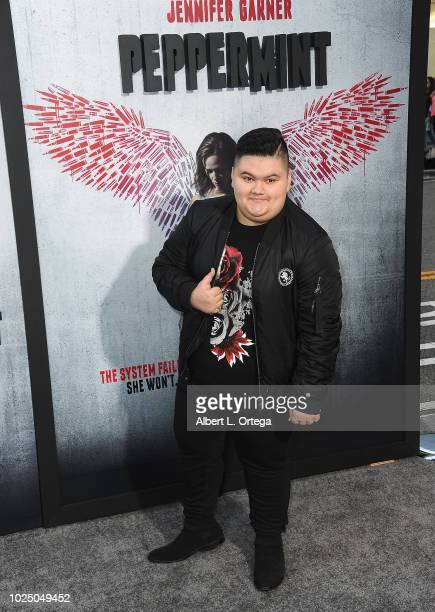 Actor Jovan Armand arrives for the Premiere Of STX Entertainment's Peppermint held at Stadium 14 on August 28 2018 in Los Angeles California