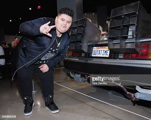 Actor Jovan Armand poses for a photo at the release of the documentary Outatime Saving The DeLorean Time Machine at Petersen Automotive Museum on...