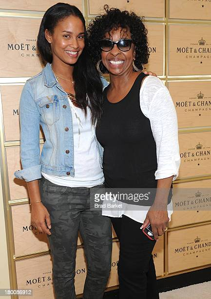 Actor Joy Bryant and Gladys Knight attends the The Moet & Chandon Suite at USTA Billie Jean King National Tennis Center on September 8, 2013 in New...