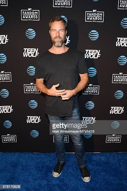 Actor JR Bourne attends the MTV Fandom Awards San Diego AT&T Post-Party featuring Teen Wolf Cast at PETCO Park on July 22, 2016 in San Diego,...