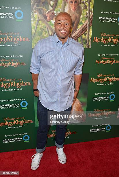 Actor JR Martinez attends the world premiere Of Disney's Monkey Kingdom at Pacific Theatres at The Grove on April 12 2015 in Los Angeles California