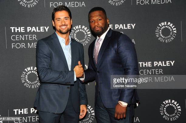 Actor JR Ramirez and executive producer Curtis 50 Cent Jackson attend PaleyLive NY Presents An Evening with the Cast and Creative Team of 'Power' at...