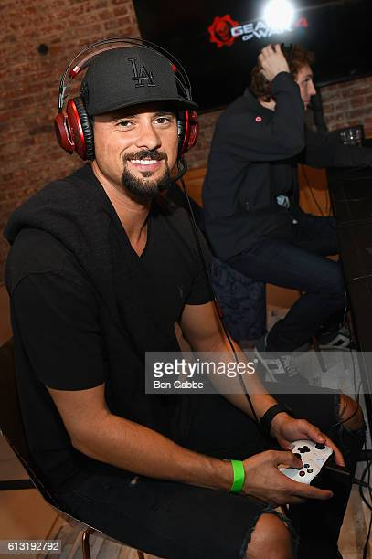 Actor JR Ramirez attends the Xbox Gears Of War 4 New York launch event at The Microsoft Loft on October 7 2016 in New York City