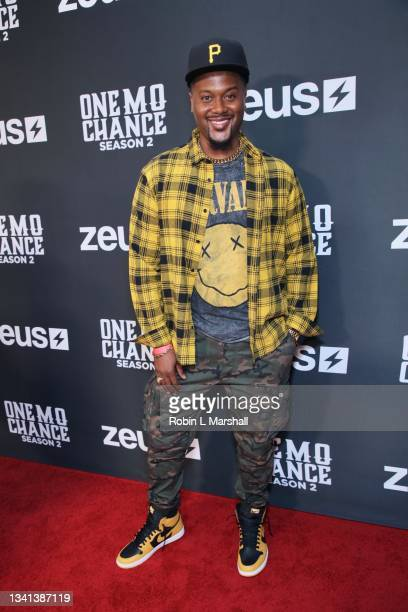 """Actor JR Taylor attends Zeus Network's """"One Mo Chance"""" Season 2 Premiere at AMC Universal at City Walk on September 19, 2021 in Universal City,..."""