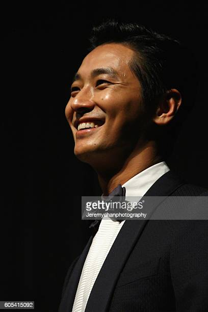 Actor Ju Jihoon attends the 'Asura The City Of Madness' premiere held at The Elgin during the Toronto International Film Festival on September 13...