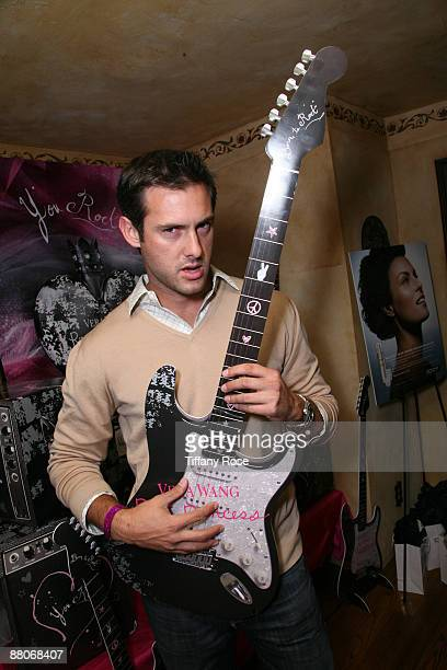 Actor Juan Barbieri rocks out on a Vera Wang rock princess guitar at Melanie Segal's MTV Movie Awards House Presented by Rev 3 - Day 2 on May 29,...