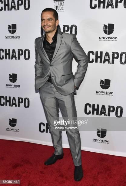 Actor Juan Carlos Olivas attends the premiere of Univison's El Chapo at Landmark Theatre on April 19 2017 in Los Angeles California