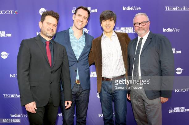 Actor Juan Davis actor Demetri Martin KCETLink CEO Michael Riley and Simon Kilmurry attend a screening of the winners of the Fine Cut Festival of...