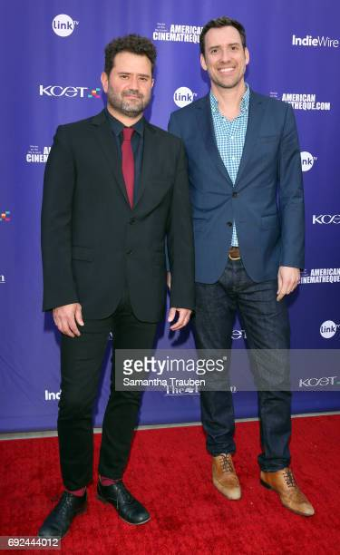 Actor Juan Davis and KCETLink CEO Michael Riley attend a screening of the winners of the Fine Cut Festival of Films hosted by KCET and Link TV at the...