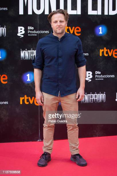 Actor Juan Diaz attends the 'La Caza Monteperdido' photocall on March 22 2019 in Madrid Spain