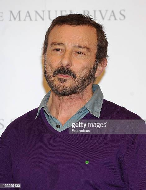 Actor Juan Diego attends a photocall for 'Todo Es Silencio' at the Palafox cinema on November 5 2012 in Madrid Spain