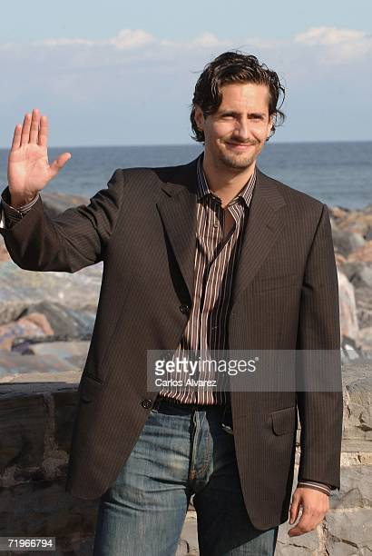 Actor Juan Diego Botto attends a photocall for Vete de Mi during the second day of 54th San Sebastian Film Festival at the Kursaal Palace on...