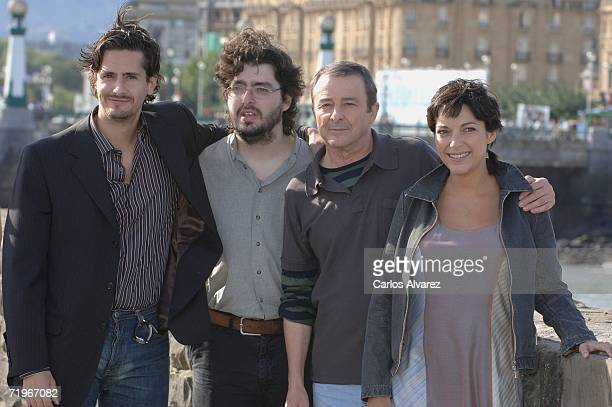 Actor Juan Diego Botto director Victor Garcia Leon actor Juan Diego and actress Cristina Plazas attend a photocall for Vete de Mi during the second...