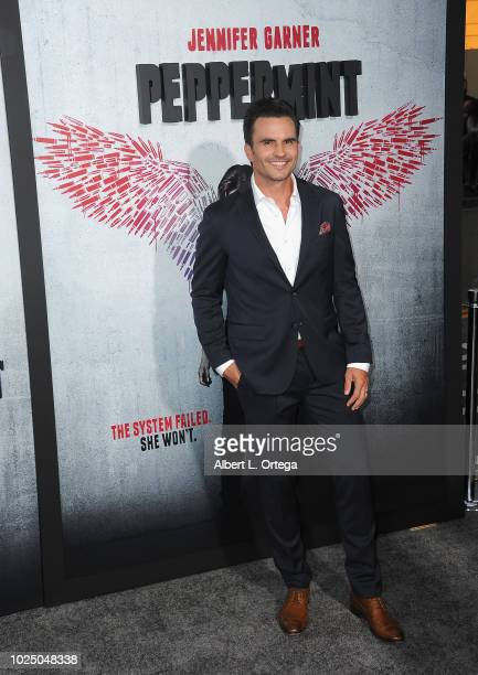 Actor Juan Pablo Raba arrives for the Premiere Of STX Entertainment's Peppermint held at Stadium 14 on August 28 2018 in Los Angeles California