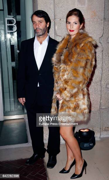 Actor Juan Pablo Shuk and Ana de la Lastra the runway at the Roberto Verino show during the MercedesBenz Madrid Fashion Week Autumn/Winter 2017/2018...