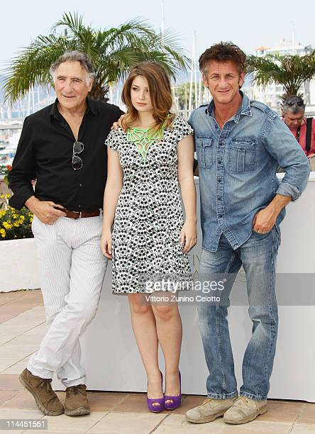 Actor Judd Hirsch actor Sean Penn and actress Eve Hewson attend the 'This Must Be The Place' photocall during the 64th Annual Cannes Film Festival at...