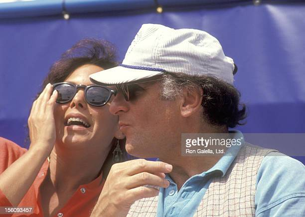 Actor Judd Hirsch and wife Bonni Chalkin attend the 1991 US Tennis Open at Flushing Meadows Park in Queens New York