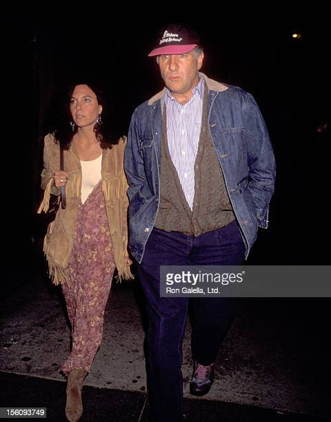 Actor Judd Hirsch and wife Bonni Chalkin attend the Broadway Performance of 'The Who's Tommy' on April 27 1993 at St James Theatre in New York City...