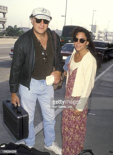 Actor Judd Hirsch and wife Bonni Chalkin on April 4 1993 departing from the Los Angeles International Airport in Los Angeles California