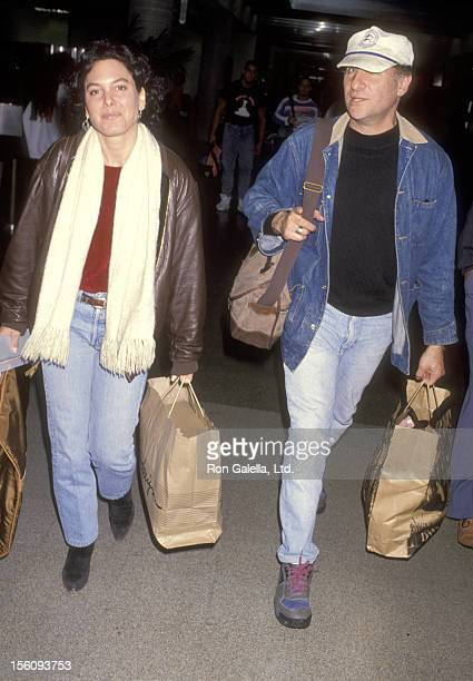 Actor Judd Hirsch and wife Bonni Chalkin on February 16 1993 departing from the Los Angeles International Airport on February 16 1993 at Los Angeles...