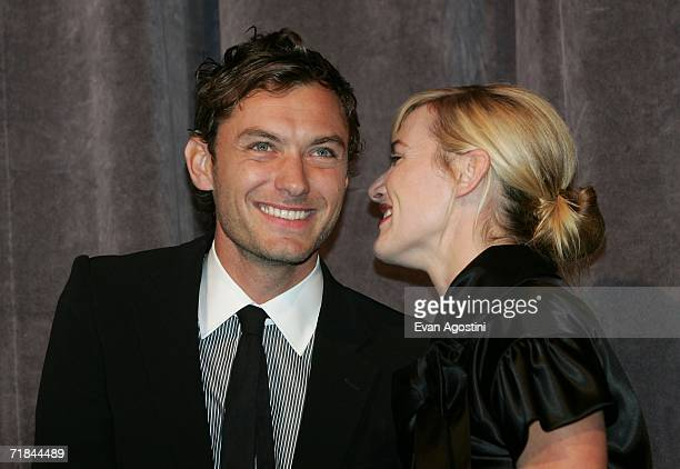 """Actor Jude Law and actress Kate Winslet onstage at the Toronto International Film Festival gala presentation of the film """"All The King's Men"""" held at..."""