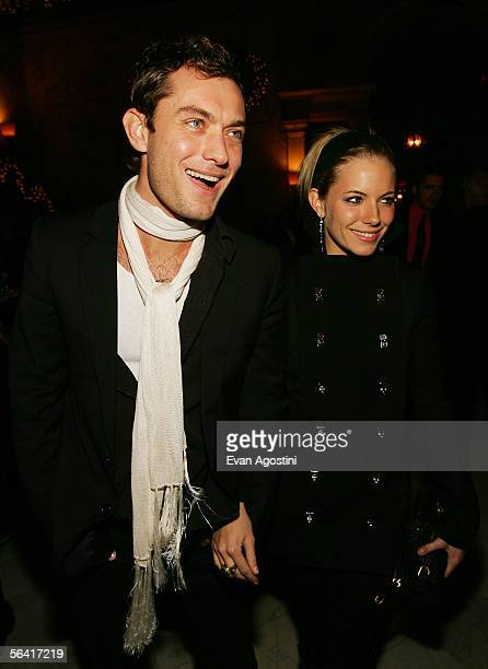 Actor Jude Law and actress Sienna Miller attend the 'Casanova' special screening after party at The Metropolitan Club December 11 2005 in New York...