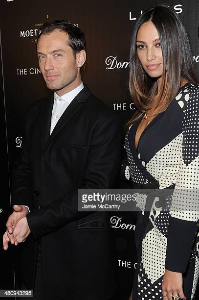 Actor Jude Law and Madalina Diana Ghenea attends the Fox Searchlight Pictures' Dom Hemingway screening hosted by The Cinema Society And Links Of...