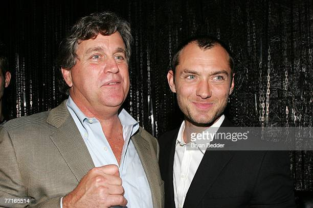 Actor Jude Law and Sony Pictures Classics copresident Tom Bernard attend the after party for the premiere of Sleuth at the Kobe club on October 2...