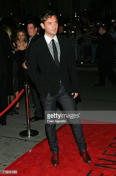"""Actor Jude Law arrives at the Toronto International Film Festival gala presenation of the film """"""""All The King's Men"""" held at the Roy Thomson Hall on..."""