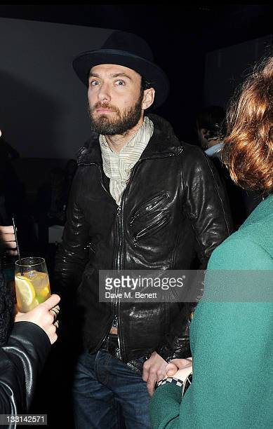 Actor Jude Law attends an after party following the UK Film Premiere of 'Beyond Time William Turnbull' at The Institute Of Contemporary Arts on...